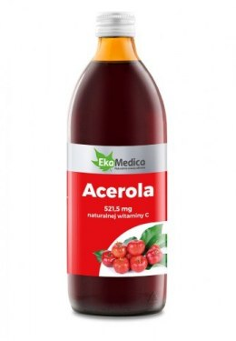 Acerola Sok 100% 500ml 100% Witamina C