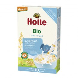 HOLLE Kaszka Junior Musli Wieloziarnista Corn Flakes BIO 10m